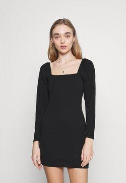 Missguided - MILKMAID MINI DRESS - Cocktailkleid/festliches Kleid - black