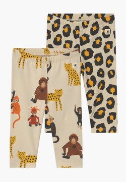 Lindex - LEO AND MONKEY 2 PACK - Legging - light beige