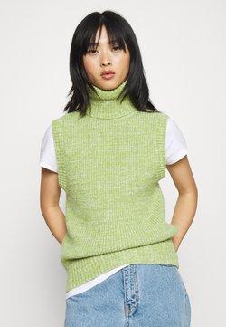 Glamorous Petite - ROLL NECK VEST - Strickpullover - green mauve