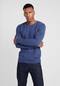 Selected Homme - SLHROCKY CREW NECK - Sweter - brilliant blue/melange