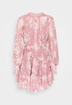 Forever New - KAI BALLOON SLEEVE DRESS - Skjortekjole - burnt pink sienna
