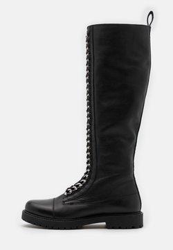 Copenhagen Shoes - ROCK LONG  - Nauhalliset saappaat - black