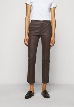 2nd Day - LEYA - Pantalon en cuir - chocolate plum