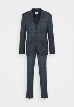 Lindbergh - BLUE CHECK 3 PCS SUIT - Completo - navy