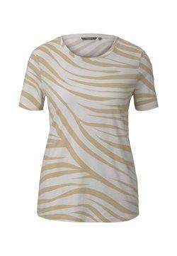 mine to five TOM TAILOR - T-Shirt print - ecru zebra design