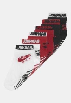 Jordan - DOUBLE WELT GRIPPER ANKLE 6 PACK UNISEX - Sportsokken - gym red