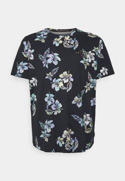 Jack & Jones - JORHAZY TEE CREW NECK - T-shirt imprimé - dark navy