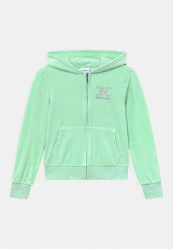 Juicy Couture - ZIP THROUGH HOODIE - Vetoketjullinen college - mist green