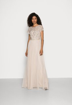 Adrianna Papell - FLORAL BEADED  WITH TULLE - Robe de cocktail - biscotti