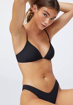 OYSHO - RUCHED  - Bikinitop - black