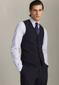 Massimo Dutti - Gilet elegante - blue-black denim
