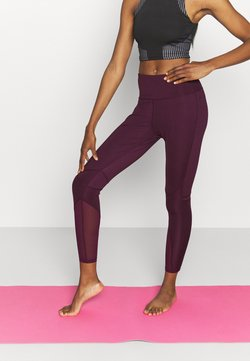 South Beach - PANELLED INSERT LEGGING - Medias - fig