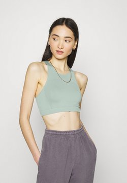 Weekday - CILLI SEAMLESS  - Top - dusty turquoise