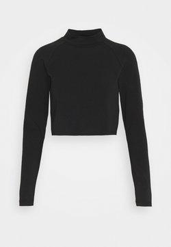 ONLY Petite - ONLBELLA CROPPED TOP PETTI - T-shirt à manches longues - black