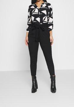 Vero Moda Petite - VMEVA LOOSE PAPERBAG PANT - Spodnie materiałowe - black