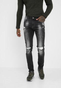 Redefined Rebel - MILANO DESTROY - Slim fit jeans - distressed grey