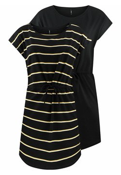 ONLY - ONLMAY 2 PACK - Jerseykleid - black double york yellow
