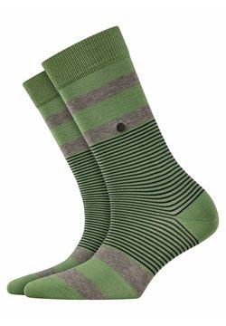 Burlington - BLACK STRIPES - Socken - khaki green