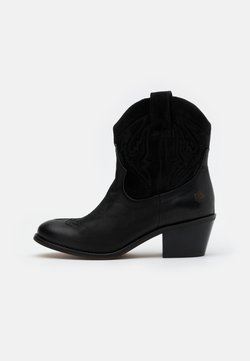 Apple of Eden - Cowboy-/Bikerstiefelette - black