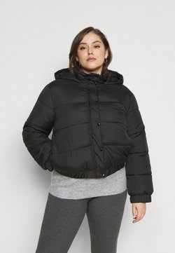 Missguided Plus - HOODED PUFFER JACKET - Winterjacke - black