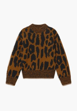 Scotch & Soda - CHUNKY LEOPARD VOLUMINOUS SLEEVES - Strickpullover - light brown/black