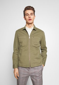 Marc O'Polo - LONG SLEEVE TWO PATCHED CHEST AND SIDE SEAM POCKETS - Leichte Jacke - deep lichen green
