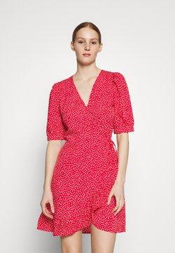 ONLY - ONLSWEETHEART WRAP FRILL DRESS - Robe d'été - red/cloud dancer