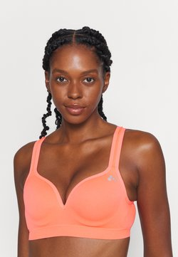 ONLY Play - ONPMARTINE SEAMLESS SPORTS  BRA - Sport BH - fiery coral