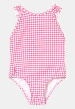 Polo Ralph Lauren - GINGHAM SWIMWEAR - Badpak - baja pink/white