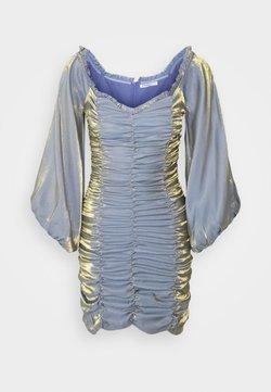 Glamorous Petite - LADIES DRESS METALLIC - Cocktailkleid/festliches Kleid - blue/gold