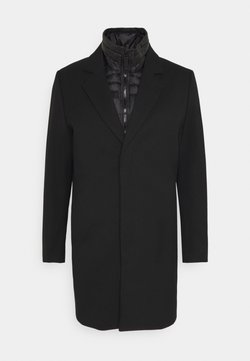 Antony Morato - COAT WITH HIDDEN PRESS BUTTONS AND PUDDED DETACHABLE JACKET 2-IN-1 - Mantel - black