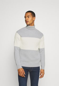 Jack & Jones - JCOTAYLOR ROLL NECK - Strickpullover - light grey melange