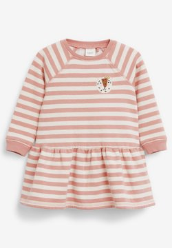 Next - STRIPE CHARACTER SWEAT DRESS (3MTHS-7YRS) - Freizeitkleid - pink