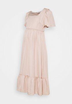 Glamorous Bloom - PEPLUM HEM MIDAXI DRESS WITH SHORT STATEMENT SLEEVES - Freizeitkleid - sandstone