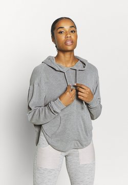 Free People - BACK INTO IT HOODIE - Jersey con capucha - grey combo