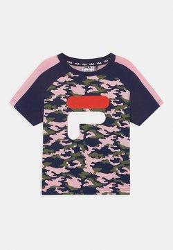 Fila - SADIE TEE  - Camiseta estampada - rose/black iris/pink mist
