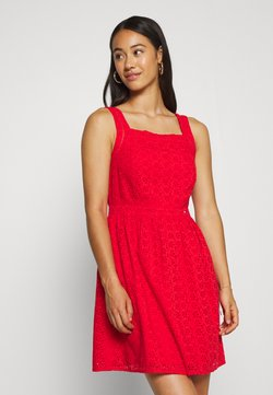 Superdry - BLAIRE BRODERIE DRESS - Day dress - apple red