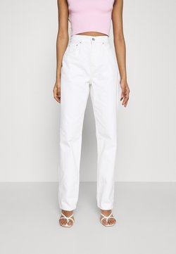 Gina Tricot - HIGH WAIST - Relaxed fit jeans - offwhite