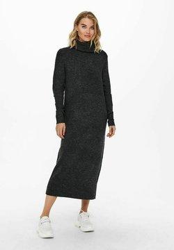 ONLY - EXTRALANG - Stickad klänning - dark grey melange