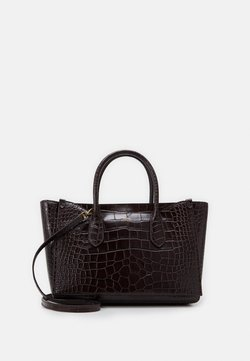 Polo Ralph Lauren - CROC EMBOSSED SLOANE - Shopping Bag - chocolate