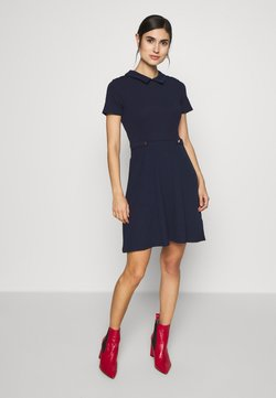 Dorothy Perkins - PLAIN COLLARED POCKET DETAIL - Vestito di maglina - navy