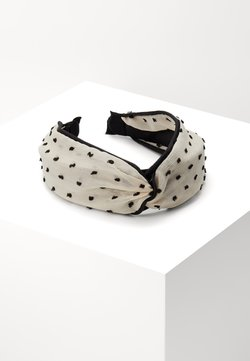 Topshop - POLKA DOT HEADBAND - Haar-Styling-Accessoires - black/white