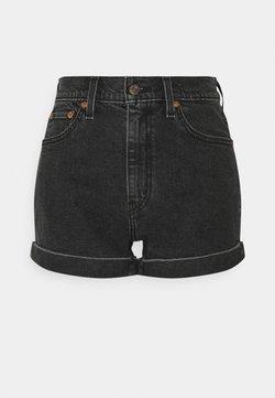 Levi's® - MOM A LINE  - Jeans Shorts - black denim