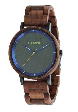LAIMER - LAIMER QUARZ HOLZUHR - ANALOGE ARMBANDUHR LAURENZ - Uhr - brown