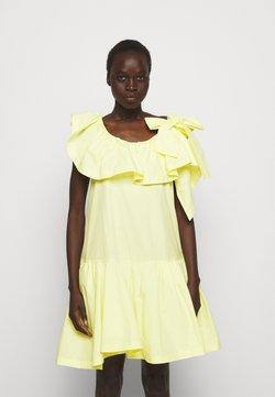 3.1 Phillip Lim - RUFFLED NECKLINE TENT DRESS - Cocktailkleid/festliches Kleid - pale yellow