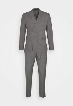 Isaac Dewhirst - CHECK DOUBLE BREASTED SUIT - Garnitur - grey