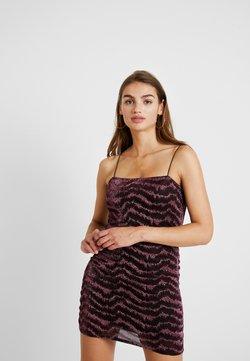 Topshop - GLITTER LUREX DRESS - Cocktail dress / Party dress - pink