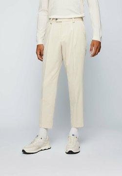 BOSS - PERIN PLEAT - Trousers - open white