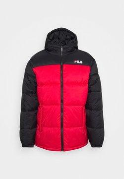 Fila - SCOOTER PUFFER JACKET - Winterjacke - black/true red