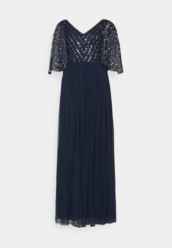 Maya Deluxe - CAPE BACK EMBELLISHED MAXI DRESS - Vestido de fiesta - navy